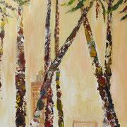 Marrakesch, Kartondruck,auf Leinwand, 40 x 80 m
