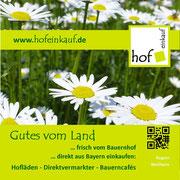 """...und die Broschüre """"Gutes vom Land"""" für den regionalen Einkauf auf dem Bauernhof direkt aus Bayern"""