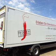 Fahrzeugbeklebung/Fahrzeugbeschriftung, LKW, Fa. FR Catering, Eibelstadt
