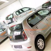Fahrzeugbeschriftung Großmenge Firmenflotte im Carsharing