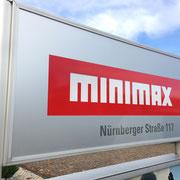 minimax, Würzburg, Werbeanlage