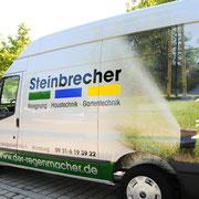 Fahrzeugbeklebung/Fahrzeugbeschriftung, Sprinter/Lieferwagen, Fa. Steinbrecher, Würzburg