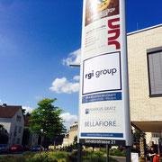 RGI group, Würzburg, Pylonbeklebung