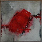 Gemeinsam allein II - Acryl Mischtechnik 20 x 20 cm, 2013