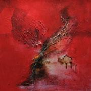 Gefallener Engel II - Acryl Mischtechnik 50 x 50 cm, 2013