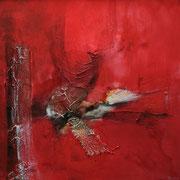 Gefallener Engel I - Acryl Mischtechnik 50 x 50 cm, 2013