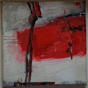 Gemeinsam allein I - Acryl Mischtechnik 20 x 20 cm, 2013