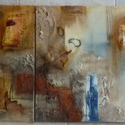 In einer anderen Welt  - Triologie 210 x 60 cm, 2012
