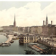 Jungfernstieg um 1900 (Quelle: Wikipedia)