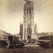 St.-Nikolai-Kirche im Bau um 1868 (Quelle: Wikipedia)