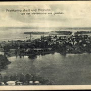 Blick von der Marienkirche auf den Frankenteich, die Frankenvorstadt und die Frankenkaserne. (Quelle: akpool.de)