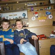 Bei Alex und Olli (damals passten wir noch beide auf einen Sessel) '90