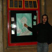Olli vorm Kino '06 (seine einzigartige Faust diente als Vorlage für das Filmplakat)