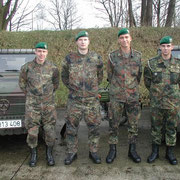 Führungsriege des AVZ - 1./PzGrenBtl 72