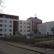 Blick auf die Neubauten im Frankenhof (Quelle: eigenes Werk)