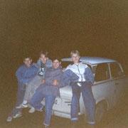 Abhängen auf'm Trabi Oktober '90