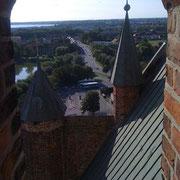 Blick von der Marien-Kirche Richtung Frankenvorstadt (Quelle: eigenes Werk)