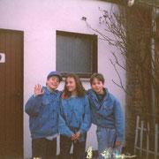 Tischtennis im Stadion mit Ulrike und Chrischi (meine Hände waren sauber) '91