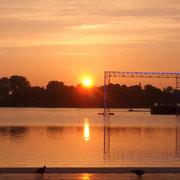 Binnenalster beim Sonnenaufgang (Quelle: eigenes Werk)