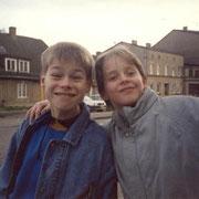 Olli und Chrischi am Frankendamm Oktober '90