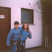 Tischtennis im Stadion mit Olli und Ulrike (Olli hatte sich wohl nicht die Hände gewaschen) '91
