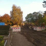Mein alter Kindergarten, der hier mal stand, wurde erst kürzlich abgerissen. Oktober '11 (Quelle: eigenes Werk)