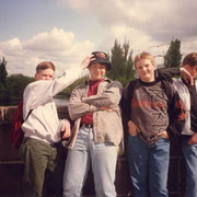 Klassenfahrt Lübeck Heinrich-Helbing Schule '93 Frank, Marco, Nico und Marco