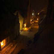 Badenstraße bei Nacht (Quelle: eigenes Werk)