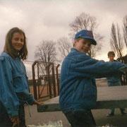 Tischtennis im Stadion mit Ulrike Becker und Chrischi '91