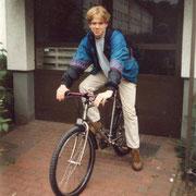 Flo auf neuem Bike '96