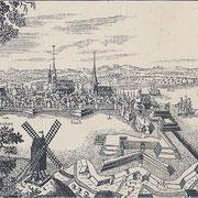 Stralsund um 1715 (Quelle: Wikimedia Commons)