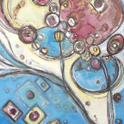 """BUBBLE CHAMBER TRAILS""  (40x38)  $3000"