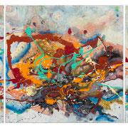 """""""FERN TRAIL""""  triptych (33x33 ea / 33x99 o/a)  SOLD"""