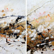"""KEY VIII~STRENGTH""  quadriptych  (30x96 oa)    $5000. set of 4"