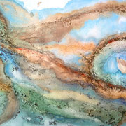 """SATURN MOONSCAPE""  (24x 36)  $1500"