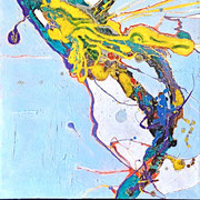 """SURFACING"" diptych  (48x24)  $1800"