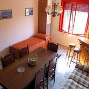 Wohnzimmer Villa Giuseppina mit zusätzlichem Bett