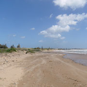 Strand Richtung Osten