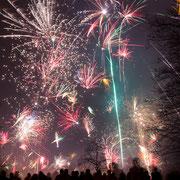 Flensburg, Hafenspitze  - Feuerwerk