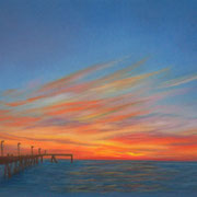 Sunset Pier   -   Soft Pastel   -  Sold