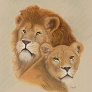 """""""The Queen and Her King""""    Soft Pastel    Sold"""