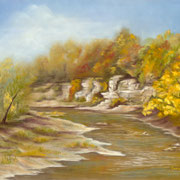 Sugar Creek Cliffs   -   Soft Pastel   -  Available