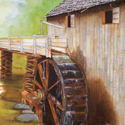 Cades Cove Mill   -   Watercolor  -  Available