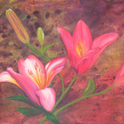 Daylilies    -   Pastel & Watercolor  -  Available