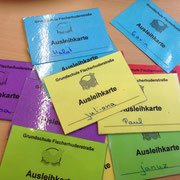 Schülerkarten zur Spielzeugausleihe