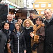 Besuch am Stand der FU-Wilhermsdorf mit der FU-Kreisvorsitzenden Adelheid Seifert