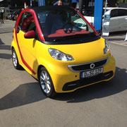 Elektroauto auf der Elektromobilitätsmesse