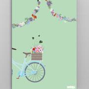 A5 Heft Fahrrad, Rückseite