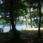 Le lac du Lampy plutôt familial