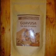 Guayusa Tee , 14 euro,  Guayusa (Ilex guayusa), die endemische Pflanze aus dem ecuadorianischen Amazonasgebiet wird als Tee schon seit hunderten von Jahren als Energiequelle und wichtiger Teil der Ernährung durch die Kichwa Indigenen  in Ecuador. Für die